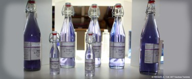 Lavender oil in bottles